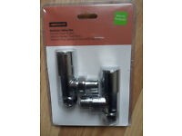 15mm Angled Chrome Radiator / Towel rail valves, taps - Pokesdown BH5 2AB