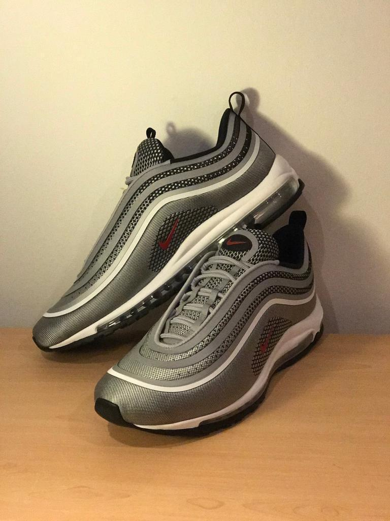 Nike Air Max 97 Silver Ul Trainers Silver Men Size 12