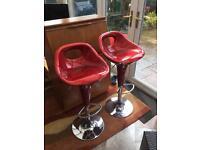 Red swivel kitchen/ bar stools