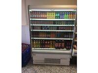 2x shop open deck fridges.