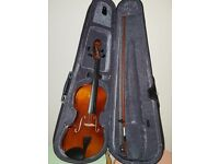 3/4 Acoustic Violin + music book stand (Stagg), to go