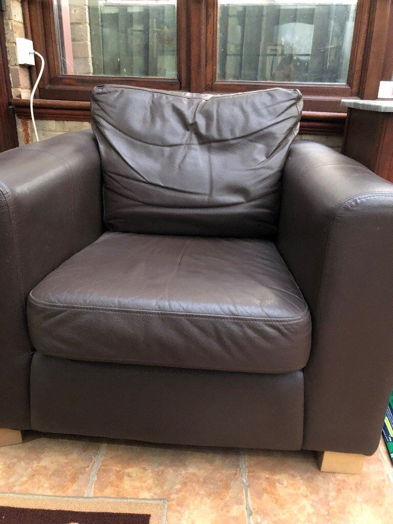 Two Brown Comfy Chairs
