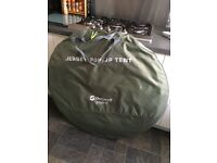 3 Person Outwell Jersey M Pop Up Tent in Silver and Green