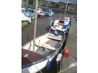 bargain boat and 5hp outboard, 15ft by aprox 5ft wide