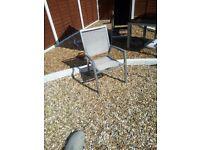grey aluminium patio chairs