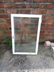 wooden single glazed window frame