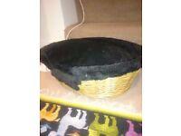 Small wicker cat basket
