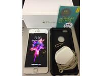 Apple Iphone 6 Unlocked To EE Network White/Gold Boxed Charger & Simcard New Condition