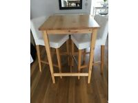 Ikea table and two bar stools