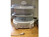 Food Steamer, note this is a 120V machine (from USA) and will need a transformer to work in UK