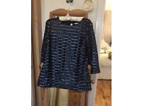Size 12 navy blue sequinned boden top.