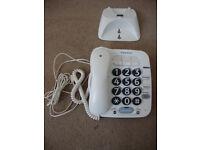 Big button BT phone & wall mount.