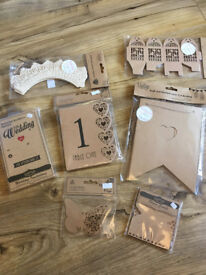 Wedding stationery (invitations, favour boxes, place cards etc.)