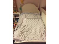 Chariots solid white wood bed for sale frame only