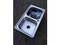 Stainless Steel Sink, Double Bowl - Brand New Unused