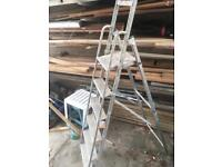 6ft 5 step ladder aluminium strong well used but stable