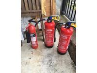 Chubb fire extinguishers x3