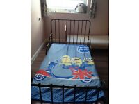 Black Extendable Kid's Bed (including a mattress)