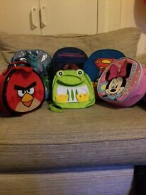 Selection of kids ruck sacks/ lunch bags
