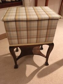 beautifully restored and upholstered sewing box