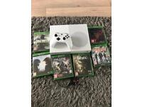 Xbox one s in white as new with 6 games