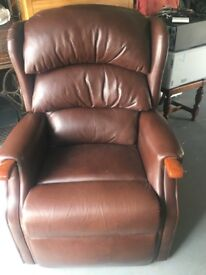 Brown Leather Reclining HSL Chair. Purchased 3 years ago. Excellent condition