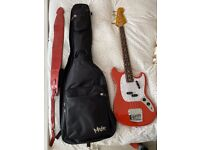 Fender Vintera 60s Mustang Bass - Fiesta Red with Case & Strap