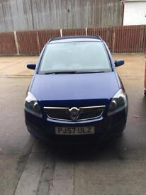 Blue Vauxhall Zafira 2007 1.6 life 7 seater 46000 miles only