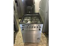 Leisure stainless steel gas cooker 55cm