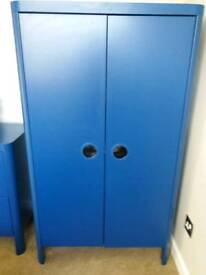 Ikea Blue Wardrobe & Chest of Drawers