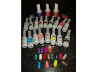 Gel Polish - selection of OrlyFX, IBD Just Gel & Two colour changing Gellux - 22 in total