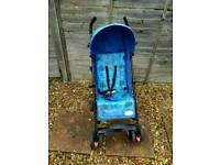 THOMAS THE TANK ENGINE STROLLER, NEEDS A BUT OF A CLEAN COMES WITH RAINCOVER £12