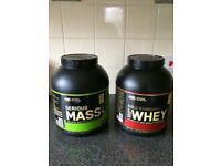 2 X OPENED OPTIMUM NUTRITION CALORIE RICH PROTEIN POWDER TUBS