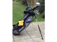"US KIDS 63"" LEFT HANDED GOLF CLUBS AND STAND BAG"