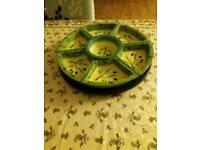 Lazy susan round 8 pieces platter