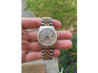 Rolex Datejust 16013 36mm 18k Gold Diamond Dial