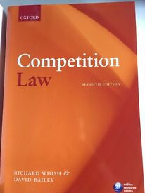 Competition Law 7th edition by Whish, Richard, Bailey, David (2012)