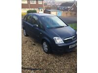 Vauxhall Meriva 1.4. Great Condition. Low Mileage for age. Economical.