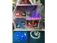 L.O.L Surprise! Winter Disco Chalet Doll House with dolls