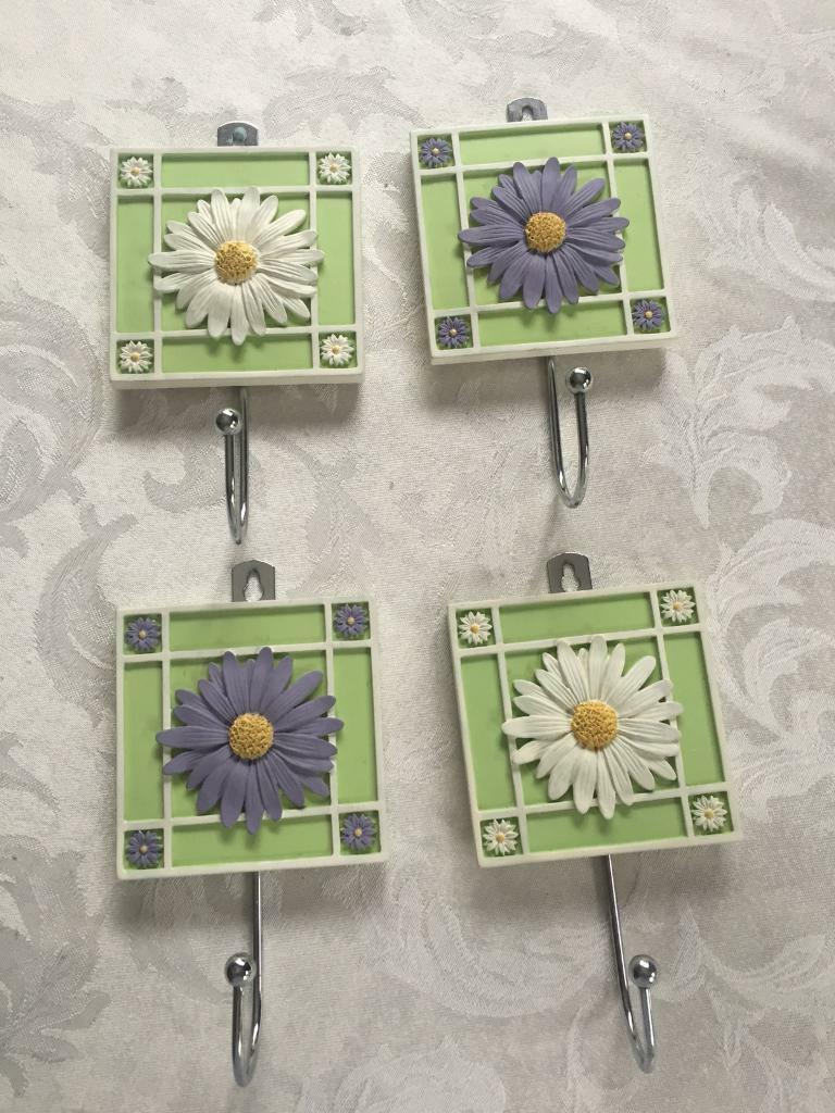 4 Disney Wall Hooks - (For Wall Mounting) - From M&S & Have Never Been Used