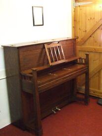 Stylish 1920's 'Arts and Crafts' upright piano