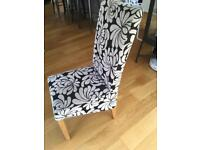 Black and white chair dining chair