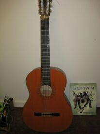 ACOUSTIC GUITAR , HOHNER MC-05. & LEARN TO PLAY GUITAR BOOK, VGC