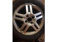 FOCUS ALLOYS 195/65/15 WITH TYRES 4 STUD
