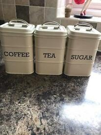 Tea, Coffee and Sugar canisters