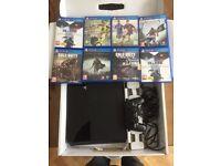 PS4 500gb plus 8 Games
