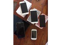 I phone Samsung bundle. Spares/repairs