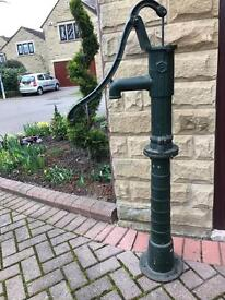 Cast Iron Garden Water Pump with Stand