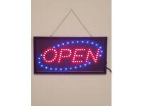 LED Flashing OPEN sign for shop business cafe bar pub garage door hanging window