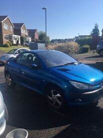 Blue 1.6l Peugeot, good engine, good run around or for a fix up, MOT until end of AUG
